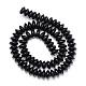 Synthetic Black Stone Bead Spacer StrandsG-R359-3x6-01-1-2