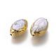 Perlas naturales abalorios de agua dulce cultivadasPEAR-F011-03G-2