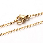 Vacuum Plating 304 Stainless Steel Cable Chain Necklaces, with Lobster Claw Clasps, Golden, 19.7