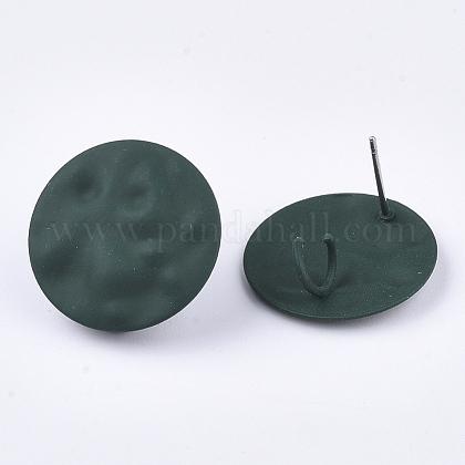 Fornituras de aretes de hierro pintado en aerosolIFIN-S703-12B-1