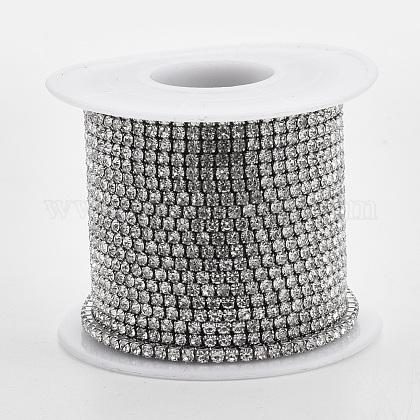 304 acero inoxidable cadena de strass de rhinestoneCHS-R012-D-01-1
