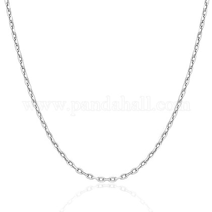 SHEGRACE® 925 Sterling Silver Cable Chain NecklaceJN965A-1