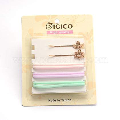 Pelo pinzas para el pelo de hierro y plástico lazos del pelo cabello accesorios para juegosOHAR-M020-09-1