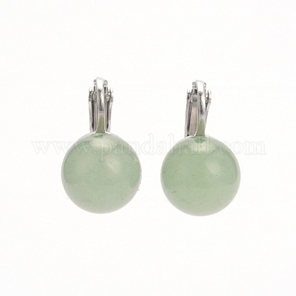 Natural Gemstone Clip-on Earrings EJEW-JE01517-06-1