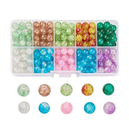 Round Transparent Crackle Glass Beads CCG-X0007-10mm-01-1