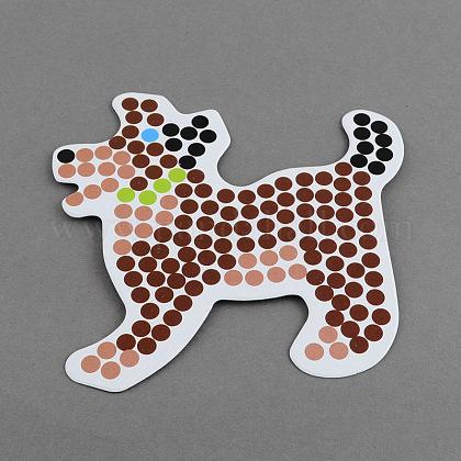 Собака поделки hama бисер бусины картонные шаблоныX-DIY-S002-07A-1
