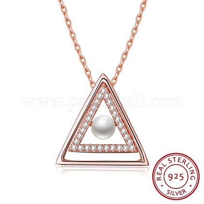 925 Sterling Silver Pendant NecklacesNJEW-BB30224-1