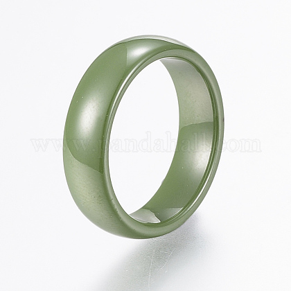 Handmade Porcelain Wide Band Rings RJEW-H121-21C-17mm-1