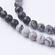Natural Netstone Round Beads StrandsG-G735-90-4mm-2
