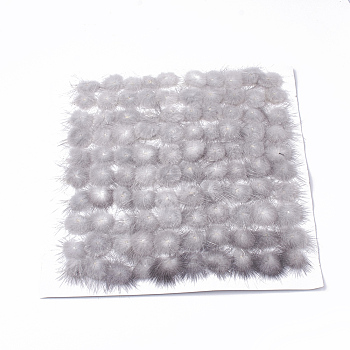 Faux Mink Fur Ball Decoration, Pom Pom Ball, For DIY Craft, Gainsboro, 2.5~3cm; about 100pcs/board