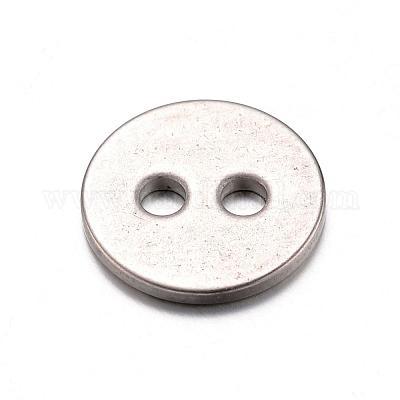 Cog Diseño Botones 4 agujero de metal X 8 Gratis P/&P Gris