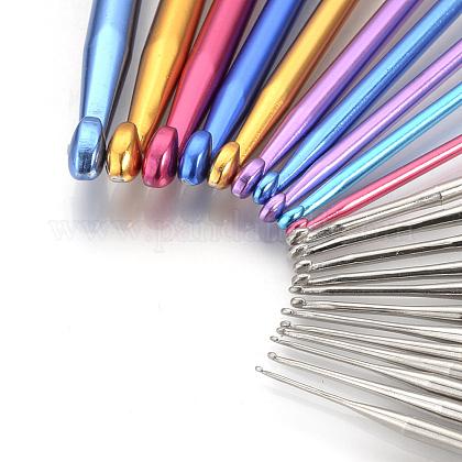 カラフルアルミかぎ針編みのフックと鉄かぎ針編みフック針TOOL-R041-02A-1