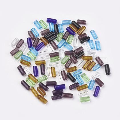 Cuentas de tubo de vidrio transparente mixtoX-GLAA-GST-M-1