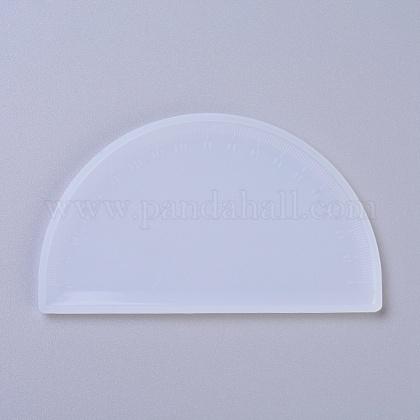 Diy moldes de silicona de regla de semicírculoDIY-G010-69-1