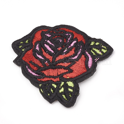 Computerized Embroidery Cloth Iron On/Sew On Patches AJEW-S069-041-1