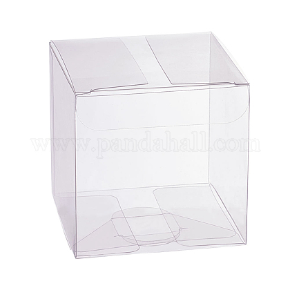 Transparent Plastic PVC Box Gift Packaging CON-WH0060-02B-1