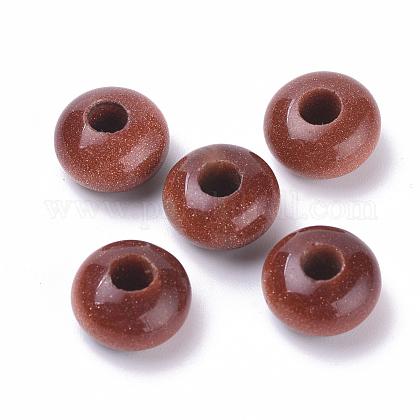 Perles européennes en goldstone synthétiqueG-T062-29-1