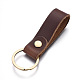 Cowhide Leather KeychainKEYC-WH0014-A02-1