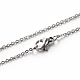 Classic Plain 304 Stainless Steel Mens Womens Cable Chain NecklacesSTAS-M174-025P-1