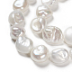 Hebras de perlas keshi de perlas barrocas naturalesPEAR-K004-33-3