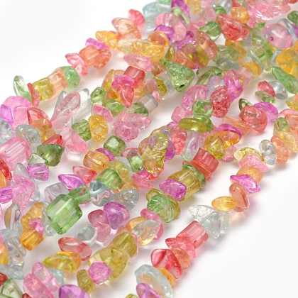 Crackle Glass Beads Strands G-P332-26-1