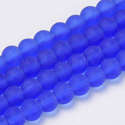 Chapelets de perles en verre transparente  GLAA-Q064-09-6mm-1
