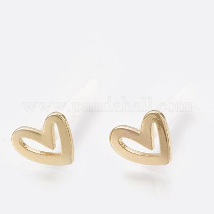 Brass Stud EarringsKK-S348-123-1