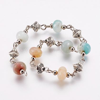 Natural Amazonite Beads Handmade ChainsAJEW-JB00405-05-1