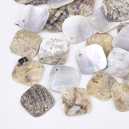 Natural Akoya Shell Charms SHEL-T012-38-1