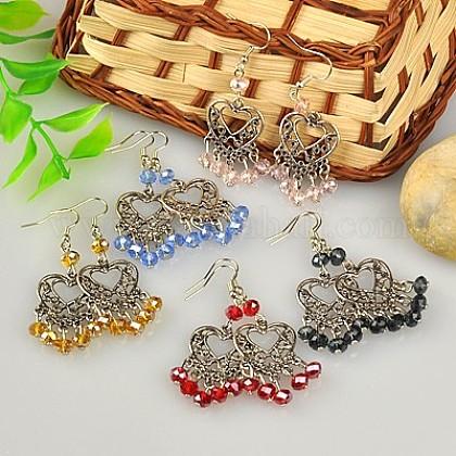 Fashion Tibetan Style Chandelier EarringsEJEW-JE00518-1