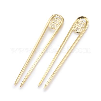 鉄のかんざしヘアスティックパーツOHAR-F008-02G-1