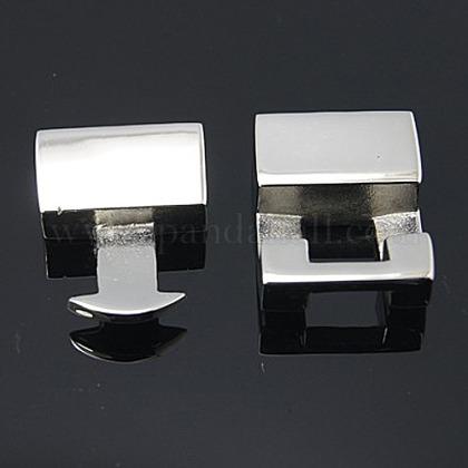 Cierres de encaje a presión de acero inoxidable para la fabricación de joyasX-STAS-Q162-1