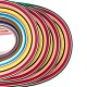 Rectangle 36 Colors Quilling Paper Strips Sets DIY-PH0008-03-5