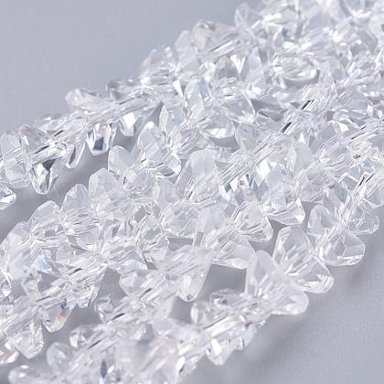 Transparent Glass Beads StrandsEGLA-J145-6mm-NB01-1