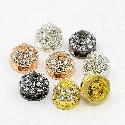 Abalorios de remache de diamante de imitación de la aleaciónRB-I027-8x8mm-01M-1