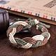 Trenzadas ajustables pulseras cordón de cuero unisexBJEW-BB15532-6