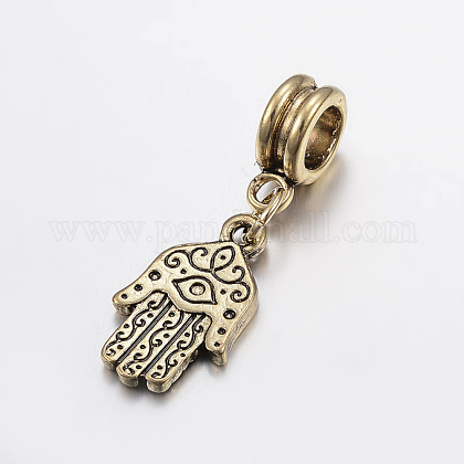 Tibetan Style Alloy European Dangle BeadsPALLOY-G222-74AG-1