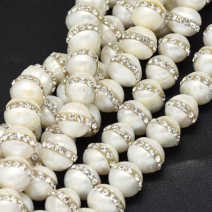 Hebras de perlas de agua dulce cultivadas naturalesG-F604-13-10mm-1