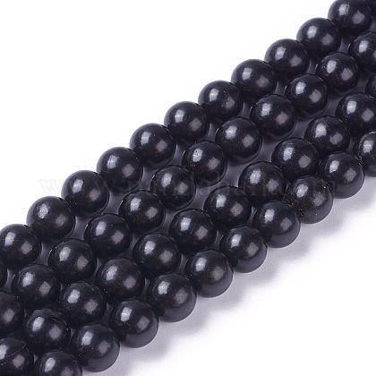 Natural Coal Quartz Beads StrandsG-G787-01B-1