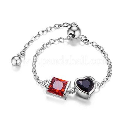 SHEGRACE® Adjustable 925 Sterling Silver Finger Ring ChainJR618B-1
