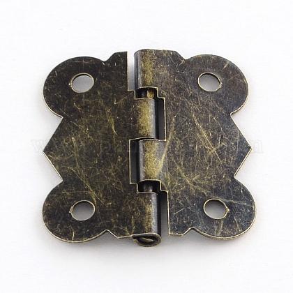 Accesorios de la caja de madera de hierro bisagraIFIN-R203-54AB-1