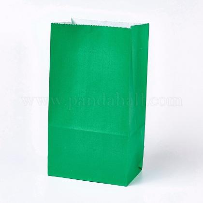 Sac en papier kraft de couleur pureCARB-WH0008-01-1