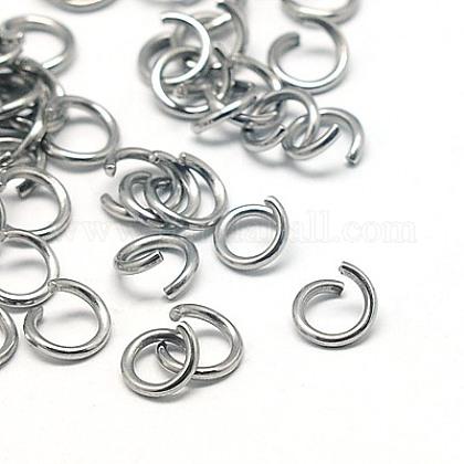 304 Stainless Steel Jump RingsSTAS-E043-8x1mm-1