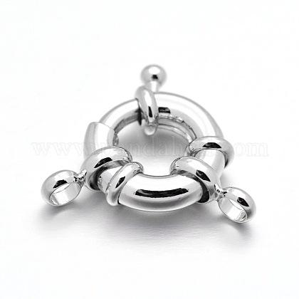 Cierres de anillo de resorte de latón chapado en rackX-KK-D399-B-P-NF-1
