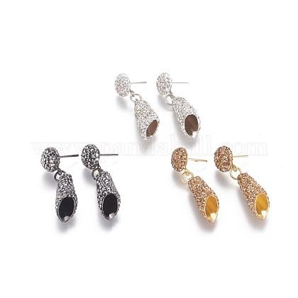 Brass Stud Earring FindingsRB-F026-09-1