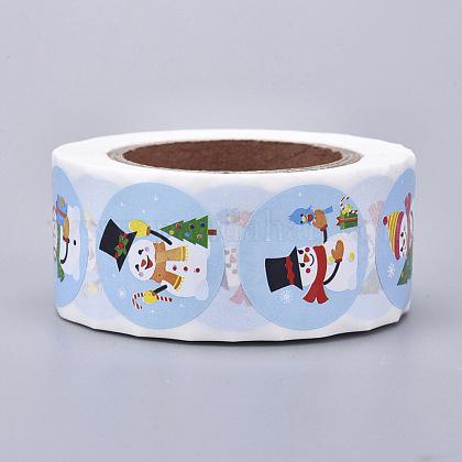 Rollo de navidad pegatinasDIY-J002-B04-1