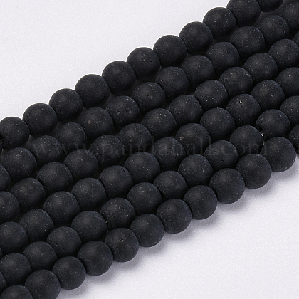 Chapelets de perles en verre transparente  GLAA-Q064-16-8mm-1