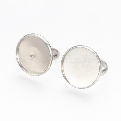 Componentes de anillos de dedo de 304 acero inoxidable ajustablesSTAS-L193-P-20mm-1