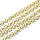 Aluminium Rolo Chains, Belcher Chain, with Spool, Unwelded, Light Gold, 4x1mm; about 50m/roll