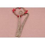 Bookmark Findings, Tibetan Style Alloy, Flower, Antique Bronze, 122x8mm